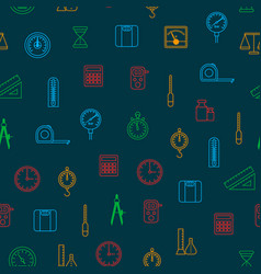 measuring thin line seamless pattern background vector image