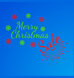 Merry christmas banner and giftcard vector