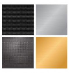metallic backgrounds vector image