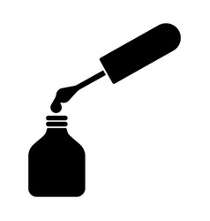 Nail polish silhouette vector