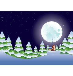 Night Winter Landscape2 vector image