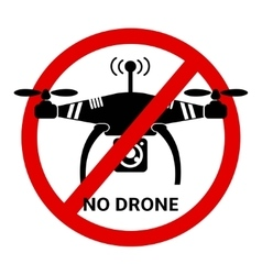 No Drone black and white icon vector image