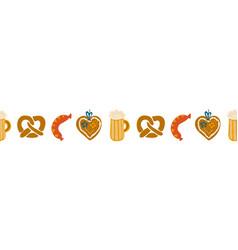 oktoberfest food seamless border vector image