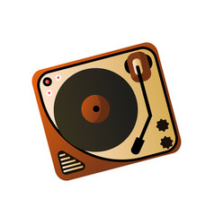 old retro vintage vinyl player home media device vector image