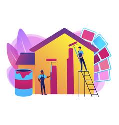 Painter services concept vector