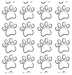 pet paw animal seamless pattern vector image