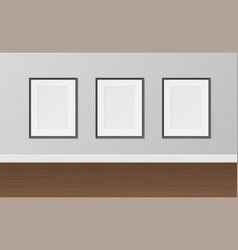 picture empty frames set wall decoration vector image