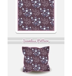 Pillow Flowers On Purple vector