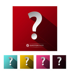 question mark symbols set isolated on white vector image