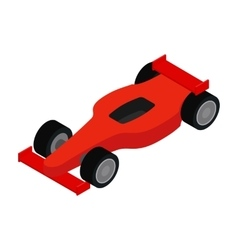 Red racing car isometric 3d icon vector