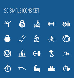 set of 20 editable lifestyle icons includes vector image