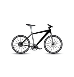 set of bikes icons on the vector image