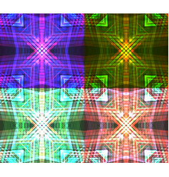 set of neon tribal textures vector image