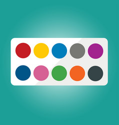 set of watercolors vector image