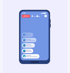 smartphone live video stream streaming videos vector image