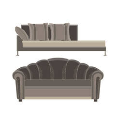 sofa set furniture room interior living chair vector image vector image