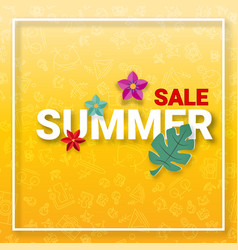 Summer sale background with summer activities vector