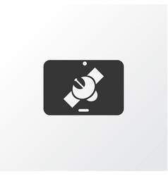 Tablet connection icon symbol premium quality vector