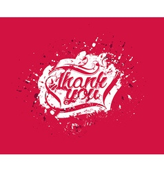 Thank You Hand lettering typographical vector image