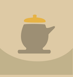 The teapot icon tea ceremony symbol flat vector