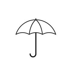 Umbrella autumn icon vector
