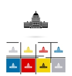 United states capitol icon vector