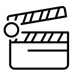 Video clip maker icon outline style vector