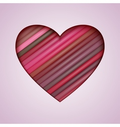 Heart Made from Color Stripes vector image vector image