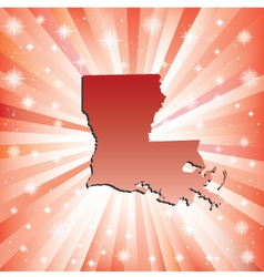 Red Louisiana vector image vector image