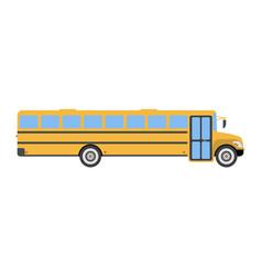 school bus flat icon and logo cartoon vector image vector image