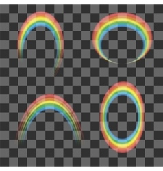 Set of Transparent Rainbow Icons vector image vector image