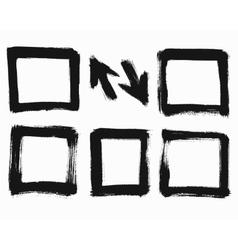 Grunge Square Frames vector image