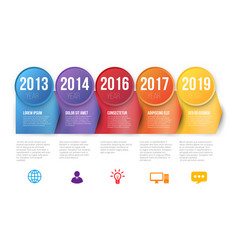 infographics with 5 steps or options arrows vector image