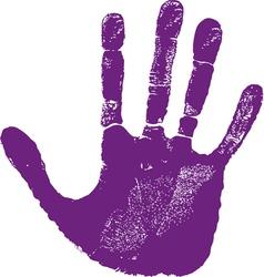 Man right hand print vector image vector image