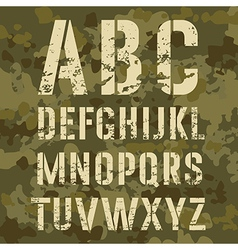 Military Alphabet vector image vector image