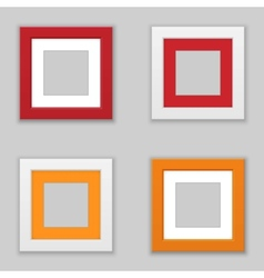 Realistic Square Picture Frame Set vector image vector image