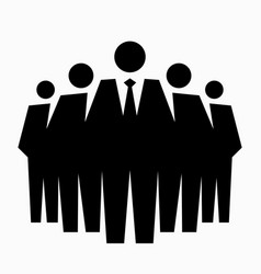 team of professionals vector image vector image