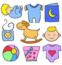 Art of object baby doodles vector