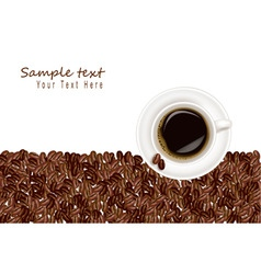 desing with coffee and bean white background vector image