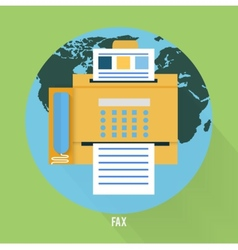 Fax icon in flat design vector image
