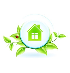 Green House Symbol vector image vector image