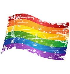 grungy Rainbow Gay Pride Flag vector image vector image