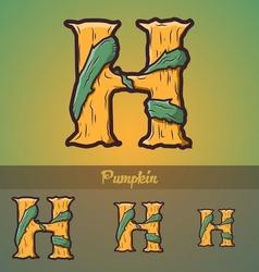Halloween decorative alphabet - H letter vector image vector image