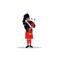 Scottish bagpiper vector image vector image