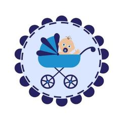 stroller with baby vector image vector image