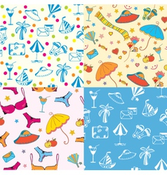 summer patterns vector image vector image