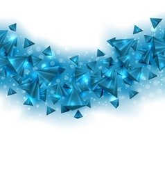 Abstract Blue Background with Pyramids and Light vector image