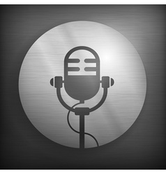 Microphone icons in gray vector image vector image