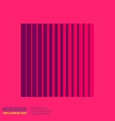 minimalistic geometric design vector image
