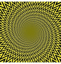 yellow abstract spirals vector image vector image